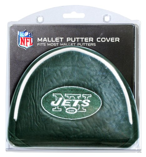 Team Golf NFL New York Jets Golf Club Mallet Putter Headcover, Fits Most Mallet Putters, Scotty Cameron, Daddy Long Legs, Taylormade, Odyssey, Titleist, Ping, Callaway ()
