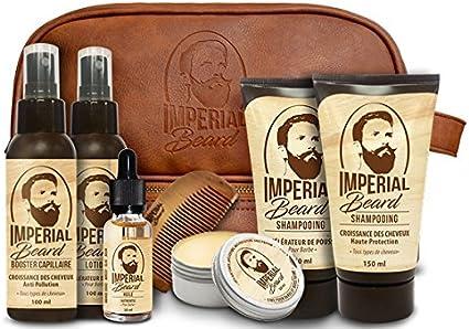 Estuche escolar para barba y cabello Imperial Beard 8 piezas: Amazon.es: Belleza