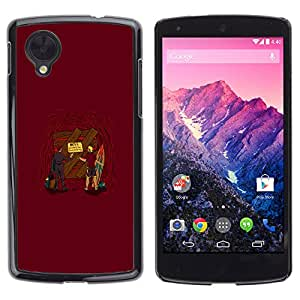 LG Nexus 5 D820 D821 - Metal de aluminio y de plástico duro Caja del teléfono - Negro - Entrance To Hell