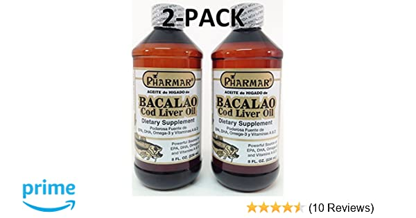 Amazon.com: Aceite De Higado De Bacalao 8 Oz. Cod Liver Oil 2-PACK: Health & Personal Care