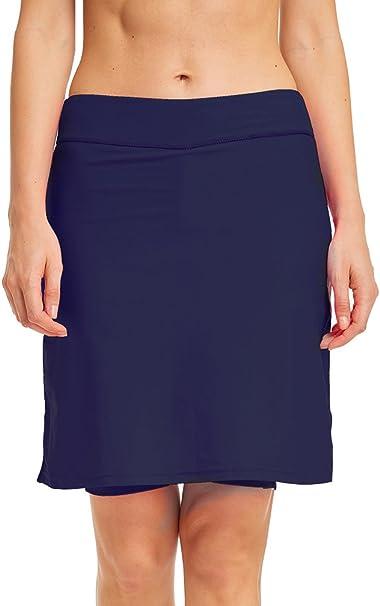 LAUSONS Shorts de baño para Mujer - Bañadores Mujer con Falda ...