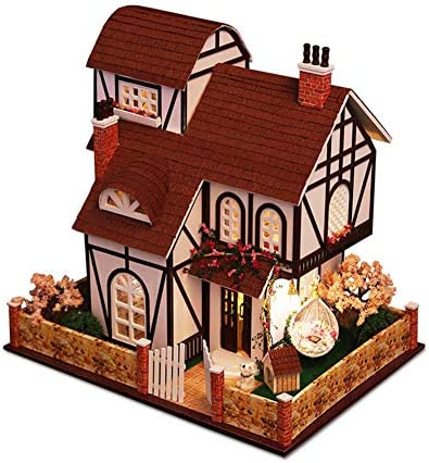 AI-YUN DIY Wooden Miniature Multi-Level Dollhouse Model Villa Doll House is a Very Sincere and Perfect for Christmas or Birthday Gift.(Flower Town) / AI-YUN DIY Wooden Miniature Multi-Level Dollhouse Model Villa Doll House is a Ver...