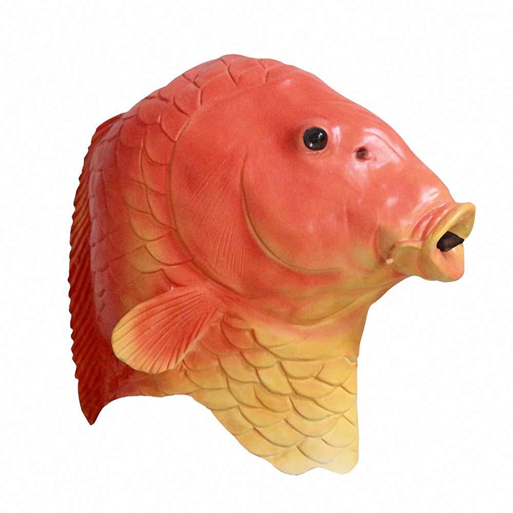Lion Fish Dragon Head Mask Latex Animal Party Costumes Halloween Cosplay