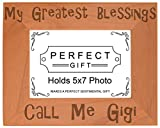 ThisWear Gift Grandma Blessings Call Me Gigi Natural Wood Engraved 5×7 Landscape Picture Frame Wood Review