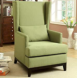 Amazon.com: Hebel Maxwell Flax Fabric Upholstered Accent ...