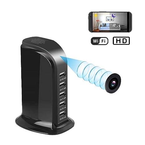 Balscw-J 1080P HD WiFi espía cámara inalámbrica cámara Oculta USB Cargador cámara 5 Puerto