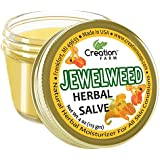 Creation Farm Anti-Fungal Jewelweed Balm, Herbal Tea Tree Salve Jar 4 oz Sensitive Skin Treatment Helps Black Nails, Poison Ivy, soothes Rashes, Jock Itch, Ringworm