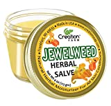 Jewelweed Herbal Salve Jar 4 OZ - Herbal Jewelweed Balm From Creation Farm | Traditional Soother | poison ivy summer skin comfort itchy sting