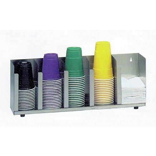 "Dispense-Rite 5 Section Adjustable Lid Organizer 22 1/2""L x 5""D x 8""H"