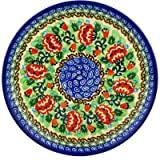 Polish Pottery Plate 8-inch Peony Dance UNIKAT