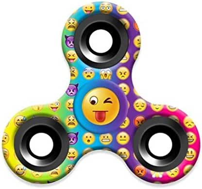 XILALU Lovely Emoji Fidget Spinner Triangle Single Finger Decompression Gyro Stress Reducer, Perfect For ADD, ADHD, Anxiety, and Autism Adult Children (A)