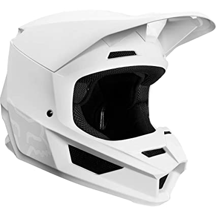 2019 Fox Racing V1 Matte Mens Off-Road Motorcycle Helmet - White/Medium