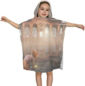Moeeze-Home Kids Hooded Bath Towel Ritual On The Ganges in The Mist Infants Hooded Bath Towel Kids Hooded Bath Towel