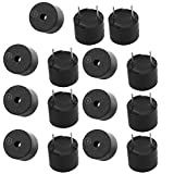 Aexit 15Pcs 12V Active Buzzer Magnetic Long Continous Beep Tone Alarm 12mm x 9.5mm