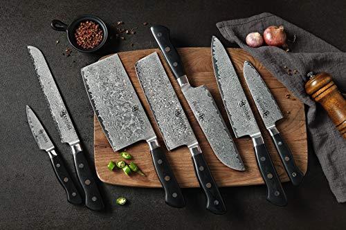 KATSURA Chinese Cleaver Knife – 6.5 Inch – Premium AUS 10, 67 Layers Japanese Damascus Steel Knife -Chefs Choice – Luxury Gift Box by KATSURA (Image #5)