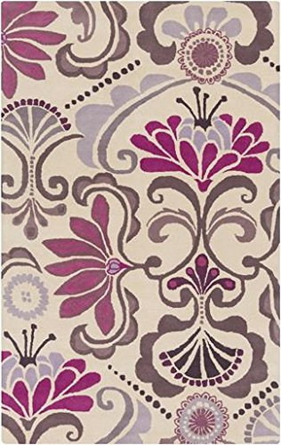 Surya Kate Spain Alhambra ALH-5016 Hand Tufted 100-Percent New Zealand Wool Floral and Paisley Area Rug, 5-Feet by 8-Feet by Surya