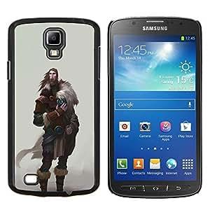"""For Samsung Galaxy S4 Active i9295 Case , Guerrero Vikingo El hombre de la barba salvaje Antiguo"""" - Diseño Patrón Teléfono Caso Cubierta Case Bumper Duro Protección Case Cover Funda"""