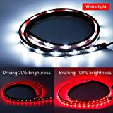 MIHAZ New Waterproof 60 Red White Reverse Brake Signal Tailgate LED Strip Light Bar for Car Trunk Cargo Ford GMC Toyota Nissan Honda Truck SUV Dodge Ram Chevy chevrolet Avalanche Silverado