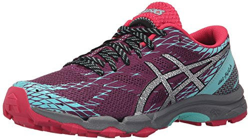 ASICS Women's Gel-Fuji Lyte Running Shoe, Plum/Silver/Pool Blue, 8 M US
