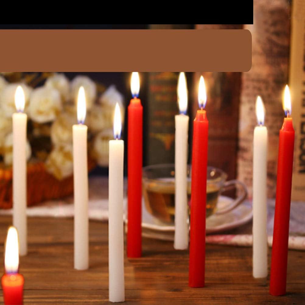 BESTOYARD 8pcs unscented Taper Kerzen 6,7dripless handgefertigte gegossen Wachskerzen f/ür Valentinstag Hochzeit Party Spa Home Dekorationen