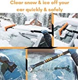 "BIRDROCK HOME Snow MOOver 55"" Extendable Foam Snow Brush and Ice Scraper with Soft Grip 