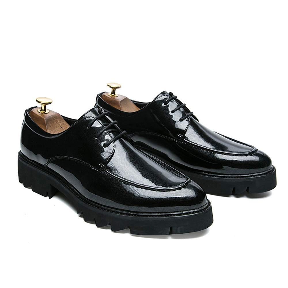 El Negocio de de de los Hombres Oxford Personalidad de la Moda Informal Color de Color Visible a Juego con los Zapatos Gruesos de Cuero al Aire Libre de Charol 875d79