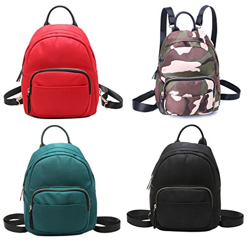 Shoulder Kofun Nylon Tote Backpack Bag Travel Black Bag Travel Bookbags Women Bag Shoulder Casual Rucksack School Mini Blue Small SSrzqw8x