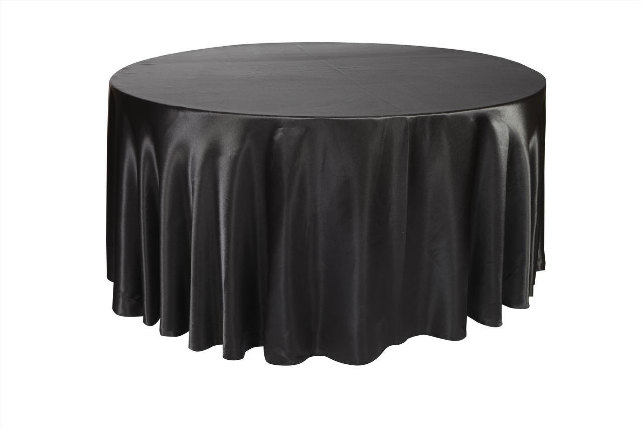 Amazon.com: Your Chair Covers   120 Inch Round Satin Tablecloths Dark  Silver, Platinum Round Table Linens For 5 Ft Round Banquet Tables: Home U0026  Kitchen