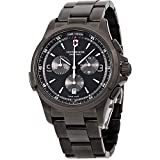 Victorinox Men's Night Vision Titanium Swiss-Quartz Watch with Stainless-Steel Strap, Black, 21 (Model: 241730)