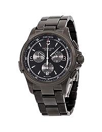 Victorinox Reloj de cuarzo suizo para hombre, visión nocturna, analógico, Black Dial, PVD Bracelet