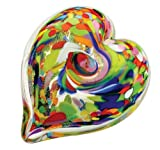 Glass Eye Studio Heart of Fire Wisdom Paperweight