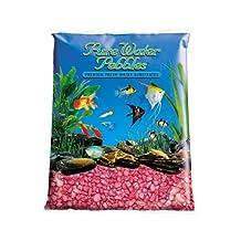 Pure Water Pebbles Aquarium Gravel, 25-Pound, Red Frost