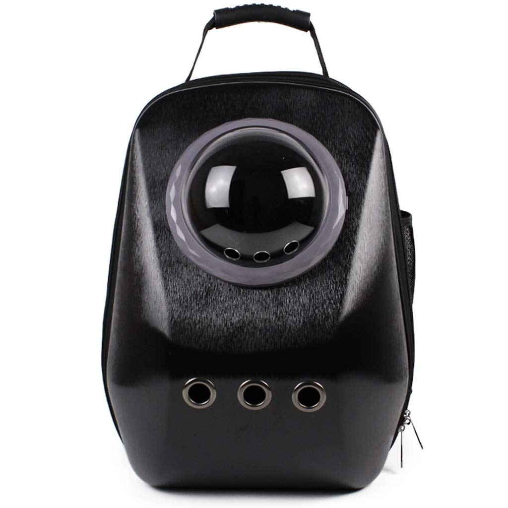 C Portable Cat Carrier Puppy Backpack Travel Bag, Heat Resistant PC Plastic Shell, Space Capsule Bubble, Chest Buckle Design, Multiple Styles Available (color   G)