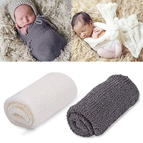 Newborn Photography Props,Aniwon Baby Photo Props Long Ripple Wraps Blanket Wraps for Baby Boys Girls