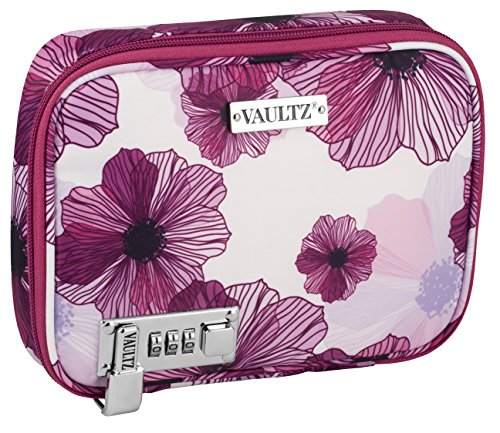 Vaultz Everyday Case, 2 x 8.5 x 6.5 Inches, Purple Floral (VZ03750)