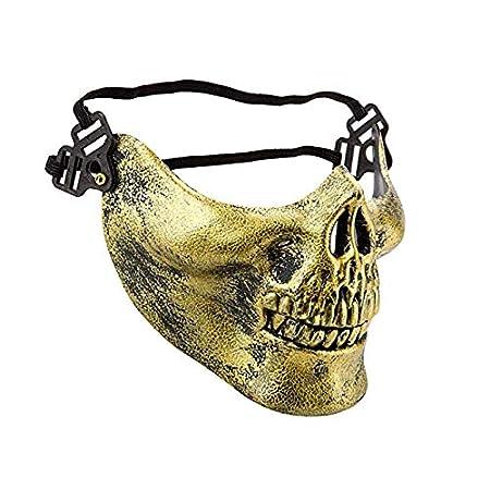 228a5d7b1abe SPORTSATAR Halloween Skeleton Mask, Airsoft Paintball Bone Skull ...