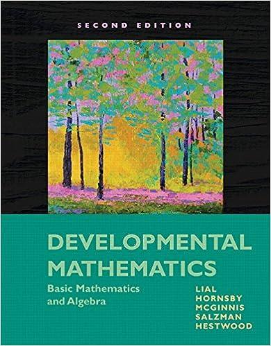 Developmental Mathematics: Basic Mathematics and Algebra (2nd