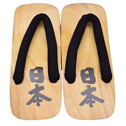 "Sandales Japonaises ""Japon "" Geta Sandales"" # Samurai :EU46 (30cm)""Samurai ""!!"