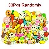 LEMO 30PCS Random Soft Kawaii Panda Bread Mini Donuts Phone Straps Charms Gifts TO380