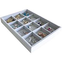Svea Display 105 Grey Velvet Stackable Organizer
