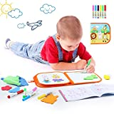 Toch Magnetic Drawing Board, Colorful Doodle Board Erasable Drawing Gift for Kids Boy Girl, Red