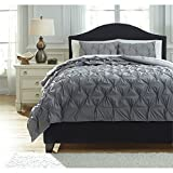 Ashley Furniture Signature Design - Rimy Comforter Set - Includes Duvet Cover & 2 Shams - King Size - Gray