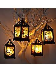 Lazyspace Halloween Led Lamp Lantaarns Ghost Festival Draagbare Elektronische Kaars Lichten Kan worden opgehangen en Hand Held (Skeleton Stijl)
