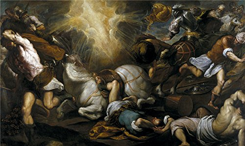 Oil Painting 'Palma Il Giovane The Conversion Of Saint Paul Ca. 1592' 12 x 20 inch / 30 x 51 cm , on High Definition HD canvas prints is for Gifts And Bed Room, Kitchen And Living Room decor, online