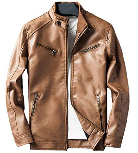 Da Giacca Vintage Biker Capispalla Modern Uomo Invernale Jacket Fit 8qw0c5A