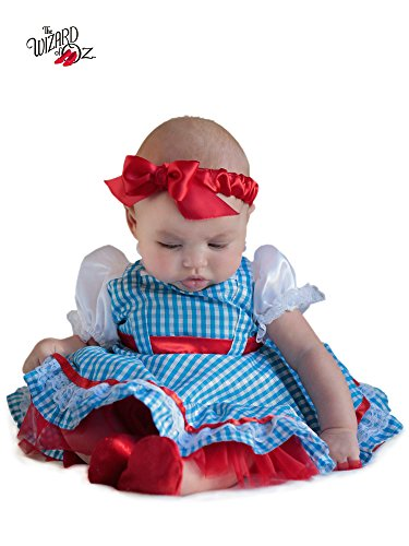 [Princess Paradise Baby Girls' The Wizard Of Oz Dorothy Newborn Costume Deluxe Costume, As Shown,] (Baby Dorothy Costumes)