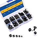 Arts & Crafts : 150 Pcs 6-12mm Plastic Safety Eyes with Washers for Doll Making (Black)
