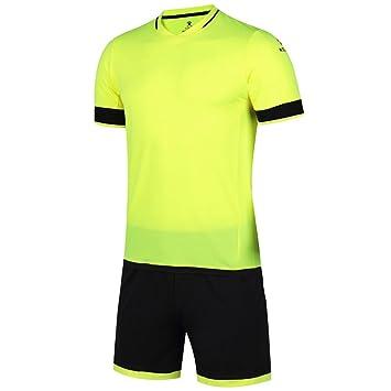 KELME última de Hombre V Cuello Manga Corta Traje de Entrenamiento de fútbol Equipo Camisetas,