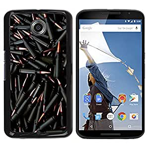 Paccase / SLIM PC / Aliminium Casa Carcasa Funda Case Cover para - Bullets Gun Black Bling Wallpaper Shoot - Motorola NEXUS 6 / X / Moto X Pro