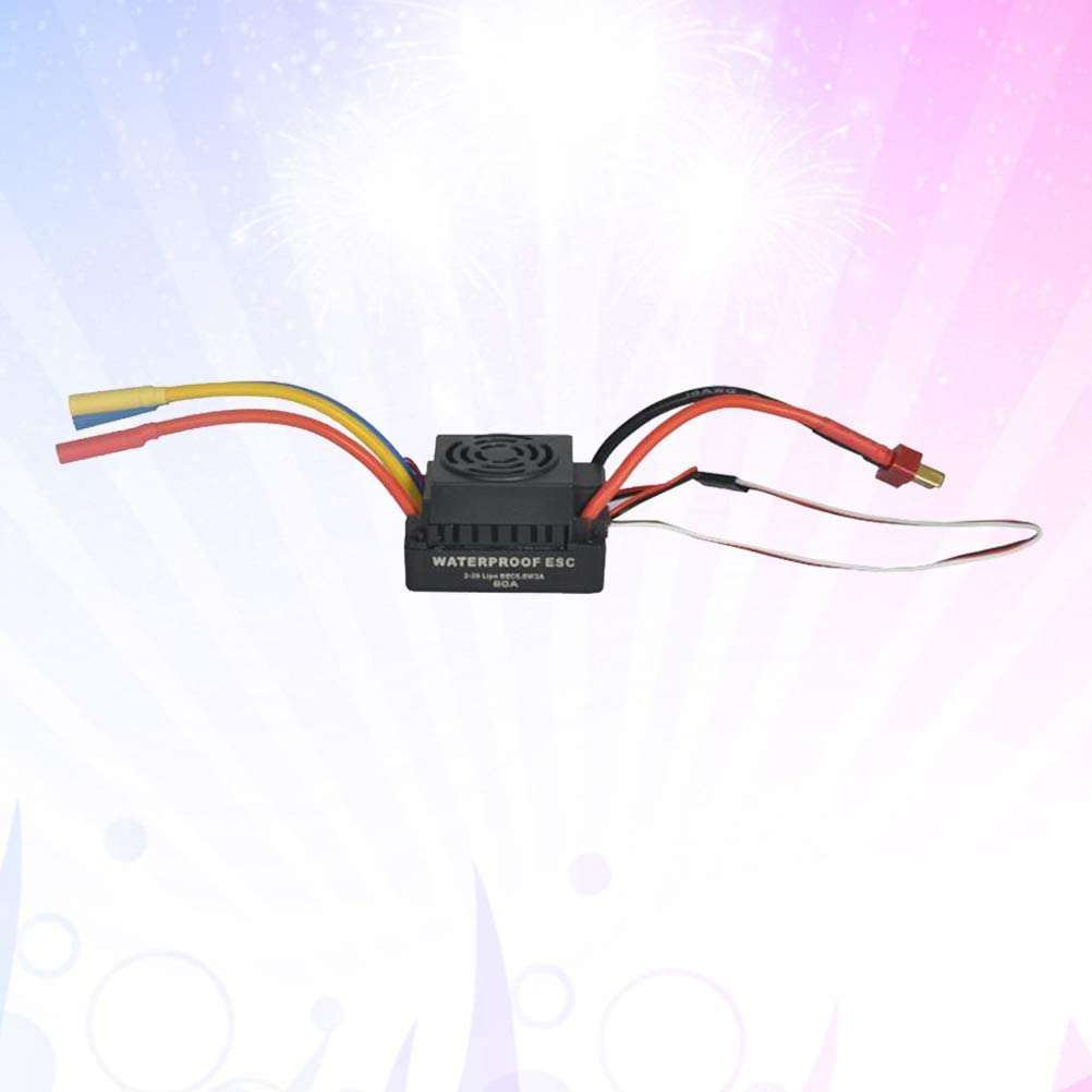 Black UKCOCO 60A ESC Brushless Motor Electric Speed Controller for ...